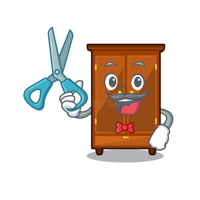 Guardarropa del peluquero en el dormitorio de la mascota de a libre illustration