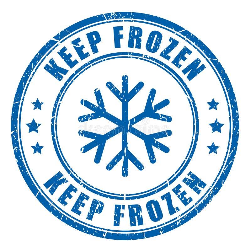 Guarde el sello azul de la tinta congelada stock de ilustración