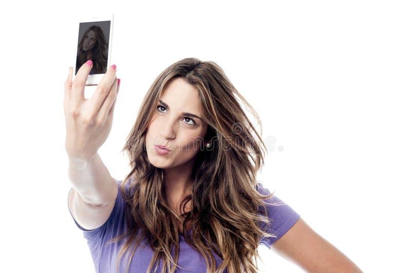 ¡Guarde la calma, su tiempo del selfie! fotos de archivo libres de regalías