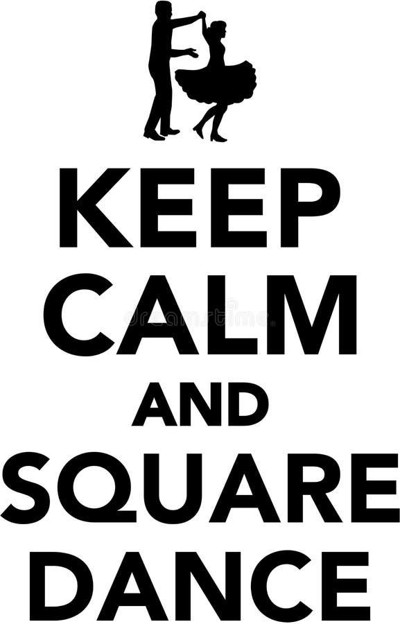 Guarde la calma y el square dance libre illustration