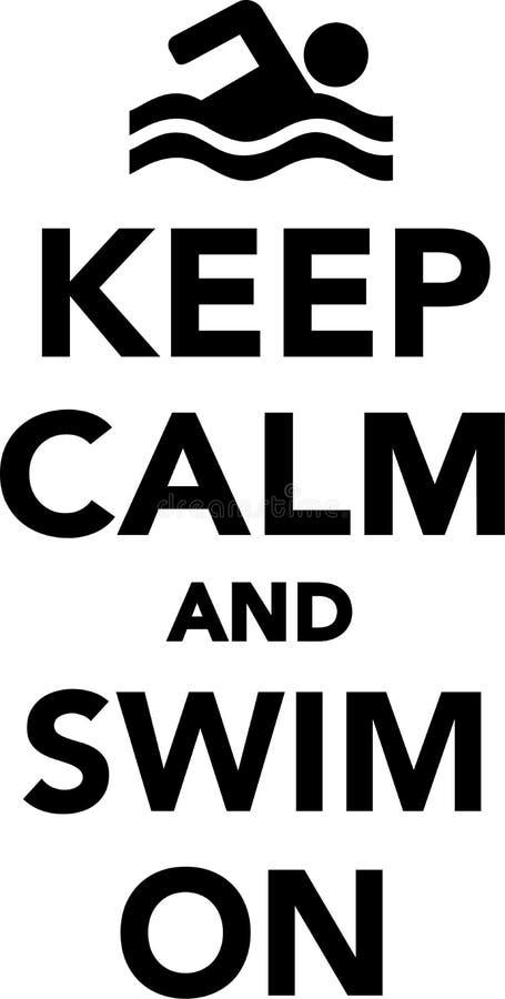 Guarde la calma y nade encendido libre illustration