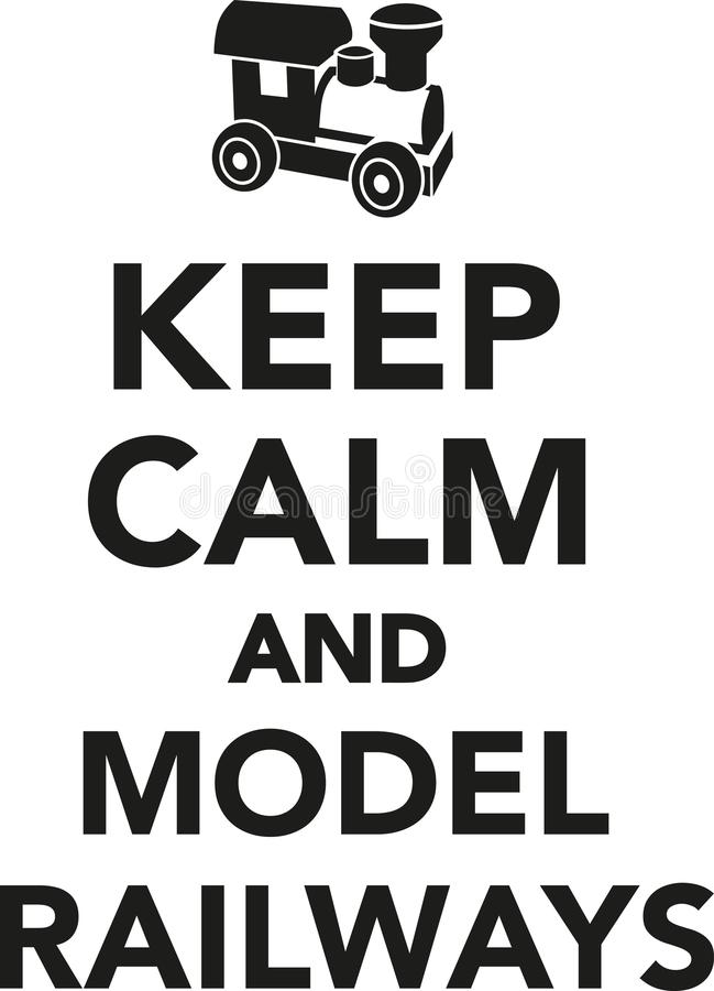 Guarde los ferrocarriles tranquilos y modelo ilustración del vector