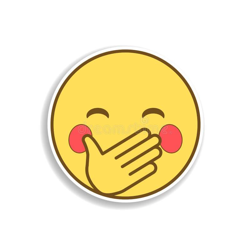 guarde um ícone colorido riso da etiqueta do emoji Elemento do emoji para a ilustração móvel dos apps do conceito e da Web ilustração stock