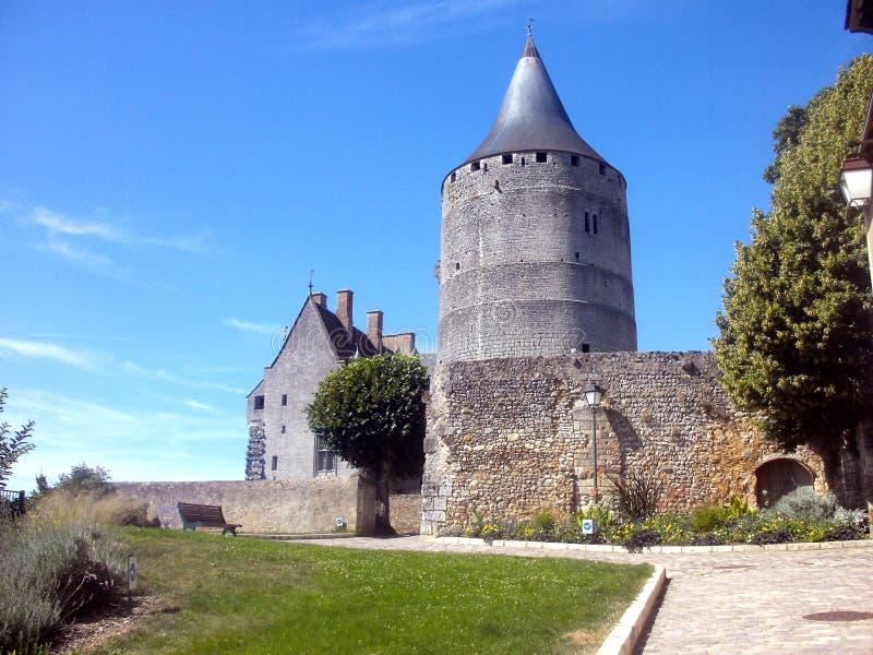 Guarde, vista de la mazmorra del castillo Francia del chateaudun imagen de archivo libre de regalías