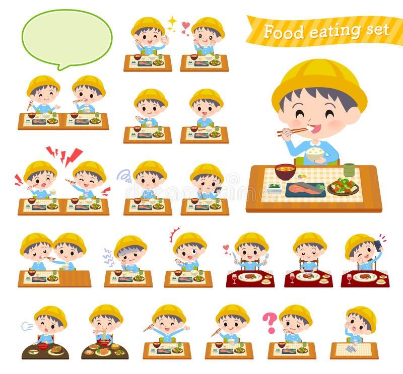 Guardería boy_Meal stock de ilustración