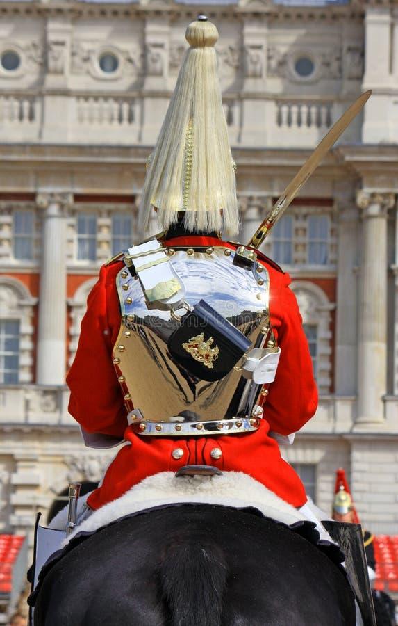 guardhästkunglig person royaltyfri fotografi