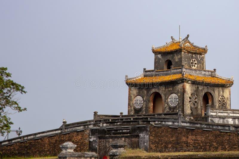 Guardhouse στην ακρόπολη του χρώματος στο Βιετνάμ στοκ εικόνα με δικαίωμα ελεύθερης χρήσης