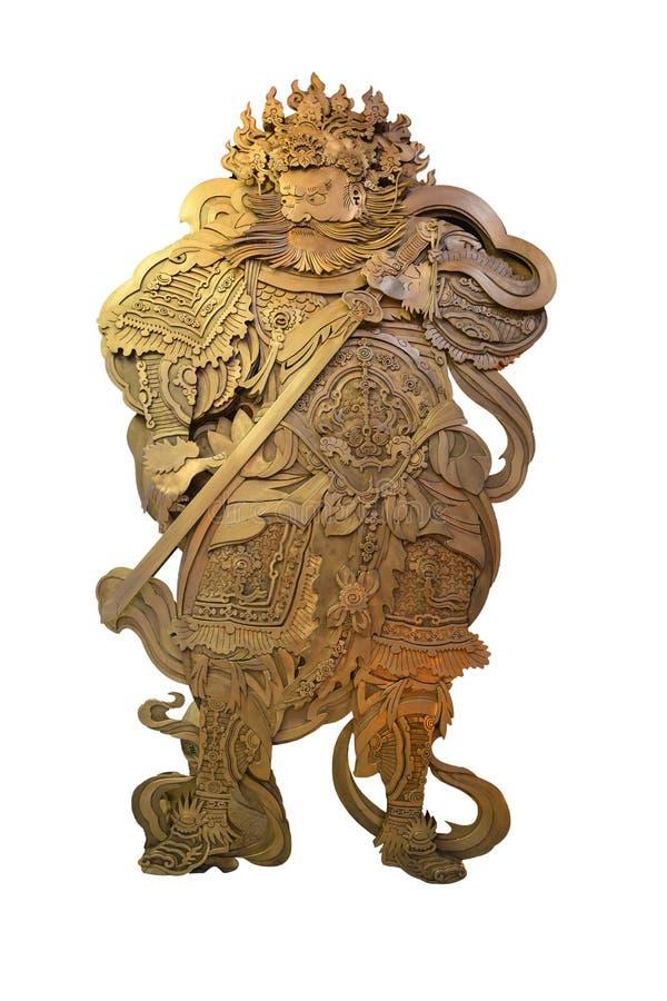 Guardião antigo do guerreiro no templo em Seoul fotos de stock royalty free