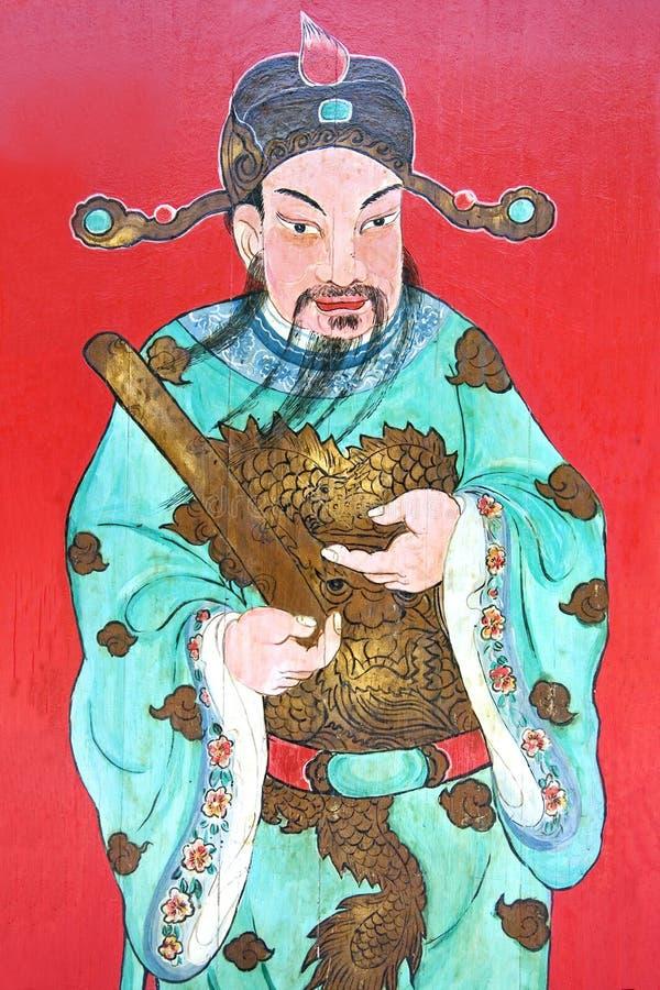 Guardião chinês do templo ilustração do vetor