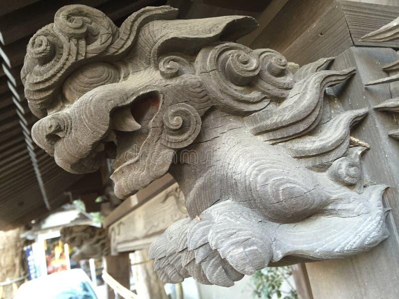 Guardião de madeira do santuário fotos de stock royalty free