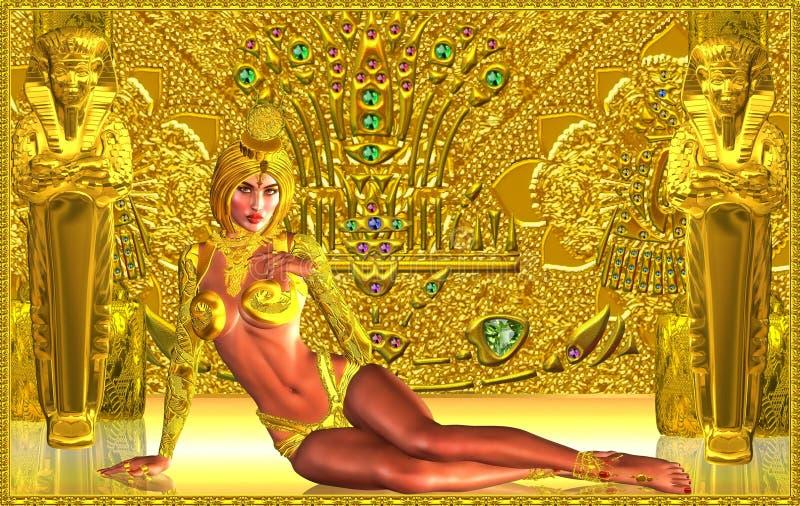 Guardião do templo dourado fotografia de stock royalty free