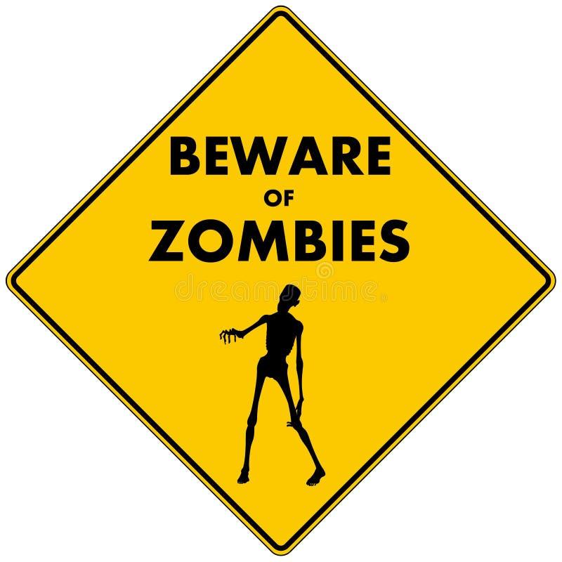 Guardi da degli zombie illustrazione di stock