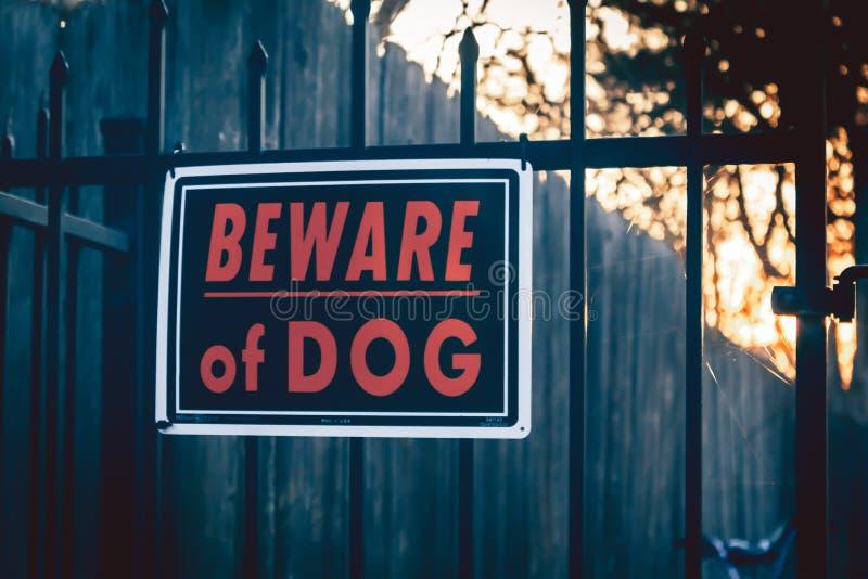 Guardi da del segno del cane immagini stock libere da diritti