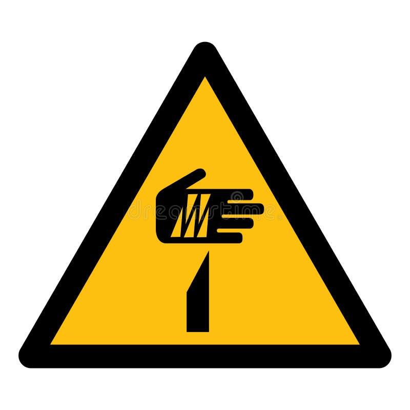 Guardi dall'isolato tagliente di simbolo degli elementi su fondo bianco, l'illustrazione ENV di vettore 10 illustrazione vettoriale