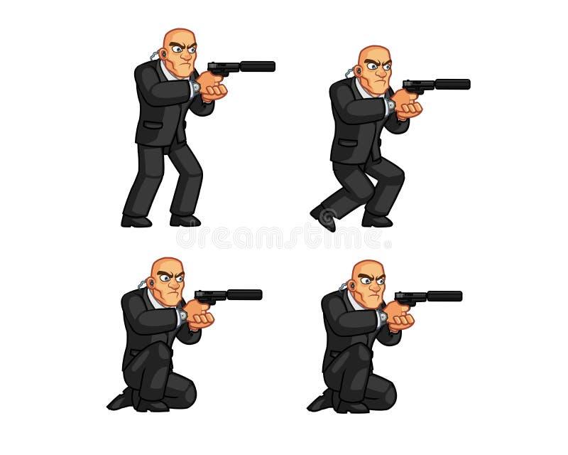 Guardia Animation Sprite del cuerpo ilustración del vector