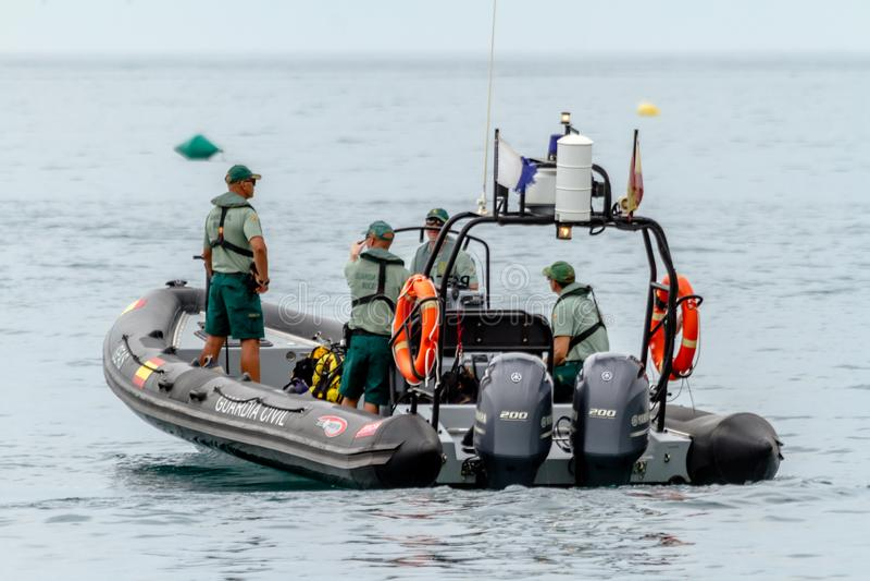 Guardia borgerlig kustbevakningpatrull arkivfoton
