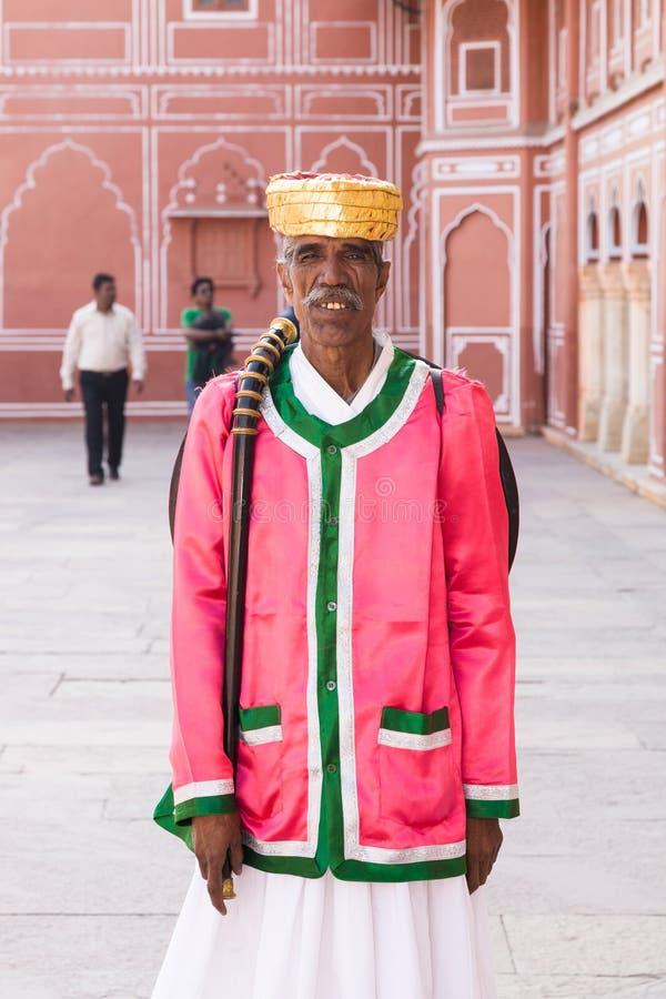 Guardia de palacio, Jaipur imagenes de archivo