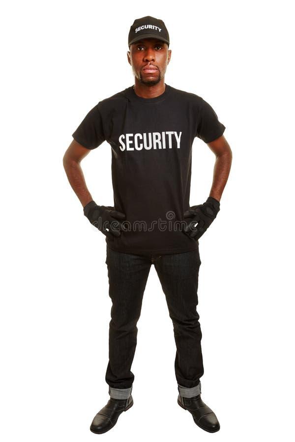 Guardia de seguridad de la empresa de seguridad foto de archivo