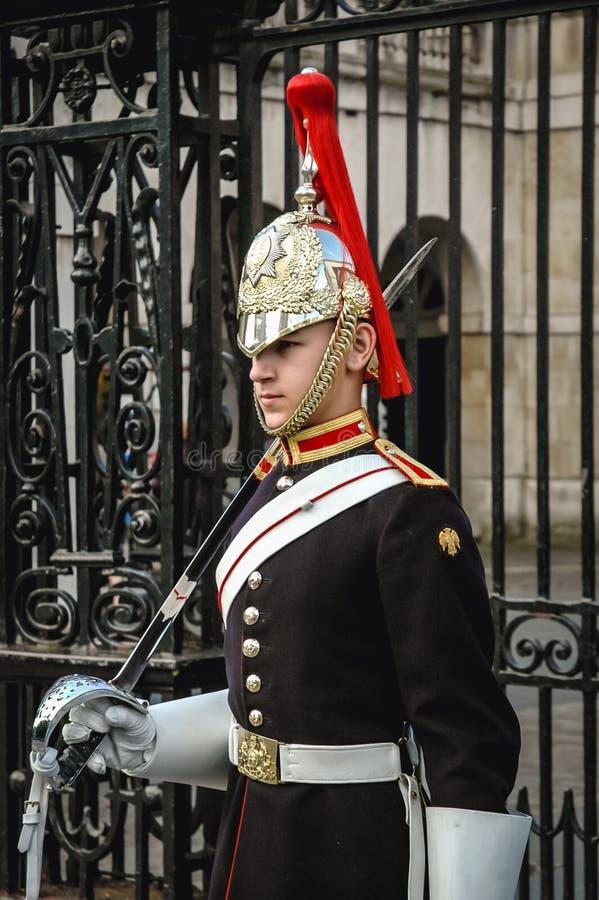 Guardia de vida en Londres fotografía de archivo