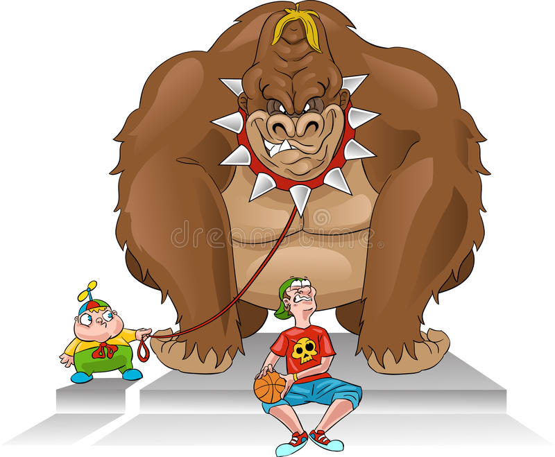 Guardia del corpo/bully della gorilla royalty illustrazione gratis