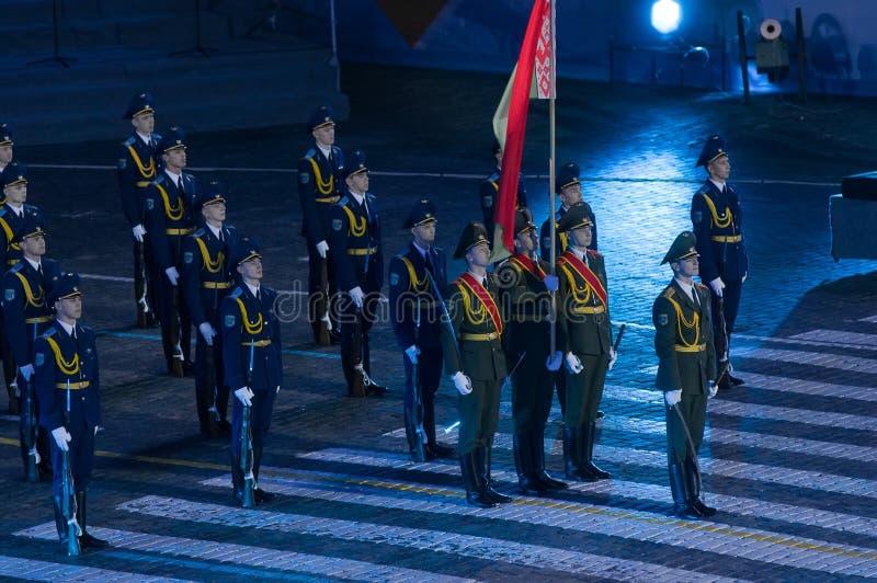 Guardia di onore Armed Forces della Repubblica Bielorussa fotografia stock
