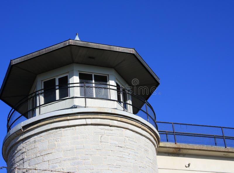 Guardia di prigione della prigione Lookout Tower Legal fotografie stock