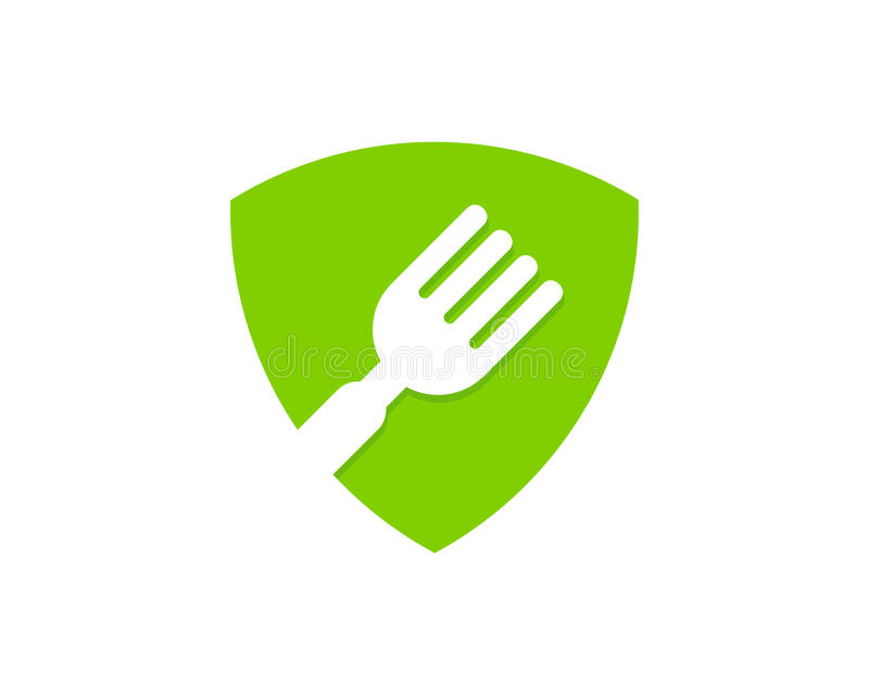 Guardia Food Icon Logo Design Element del escudo ilustración del vector