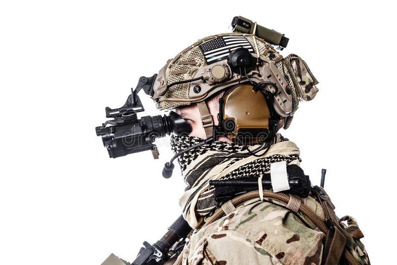 Guardia forestale dell'esercito in uniformi del campo fotografia stock libera da diritti