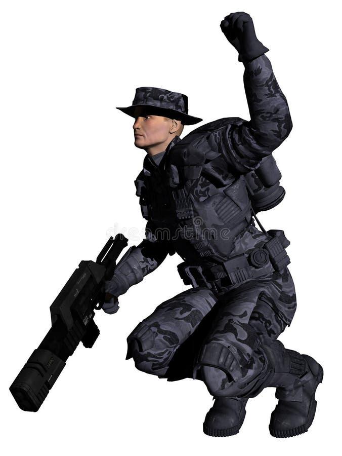 Guardia forestale marino dello spazio - arresto! royalty illustrazione gratis