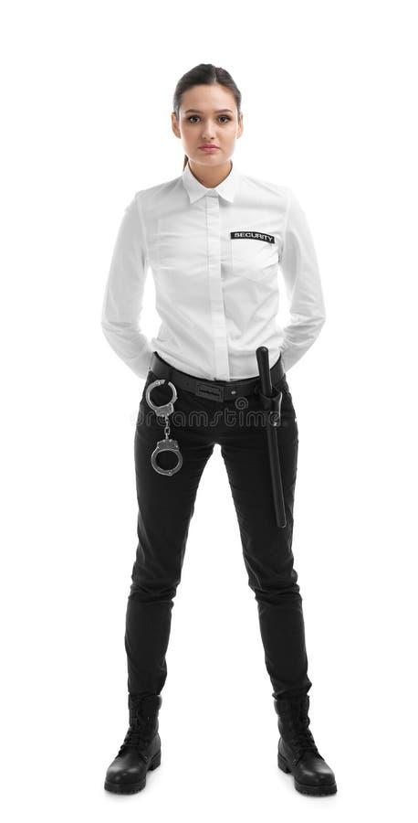 Guardia giurata femminile in uniforme immagini stock