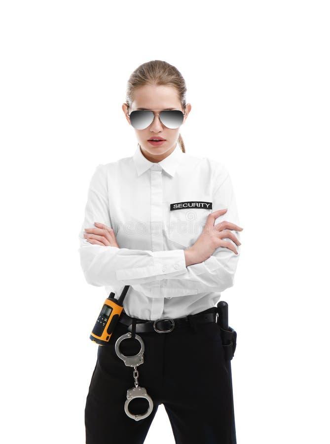 Guardia giurata femminile in uniforme fotografie stock libere da diritti
