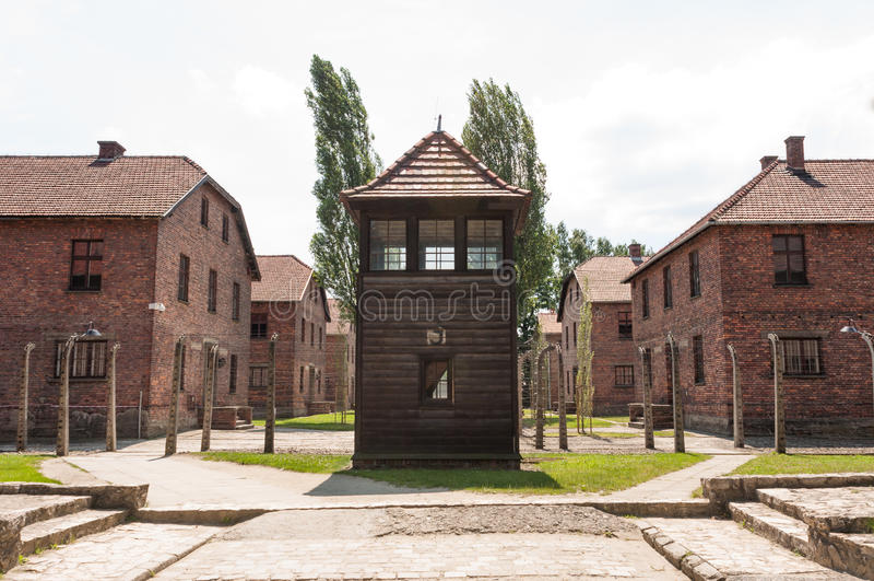 Guardia House de Auschwitz imagen de archivo libre de regalías