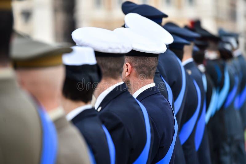 Guardia Nacional italiano del honor durante una ceremonia agradable imagenes de archivo