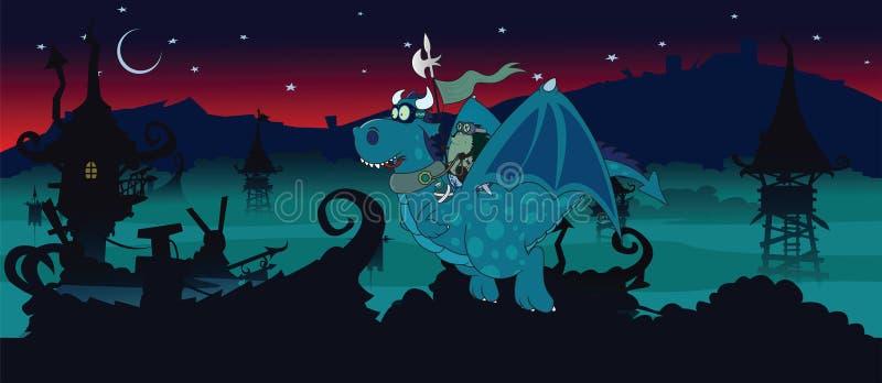 Guardia nocturna ilustración del vector