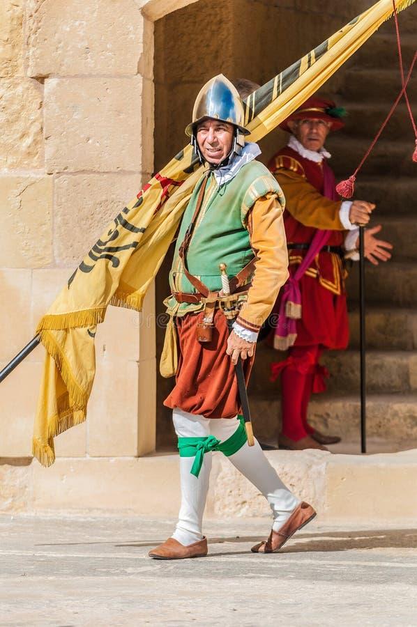 In Guardia Parade bij St. Jonh Arrogant in Birgu, Malta. royalty-vrije stock foto