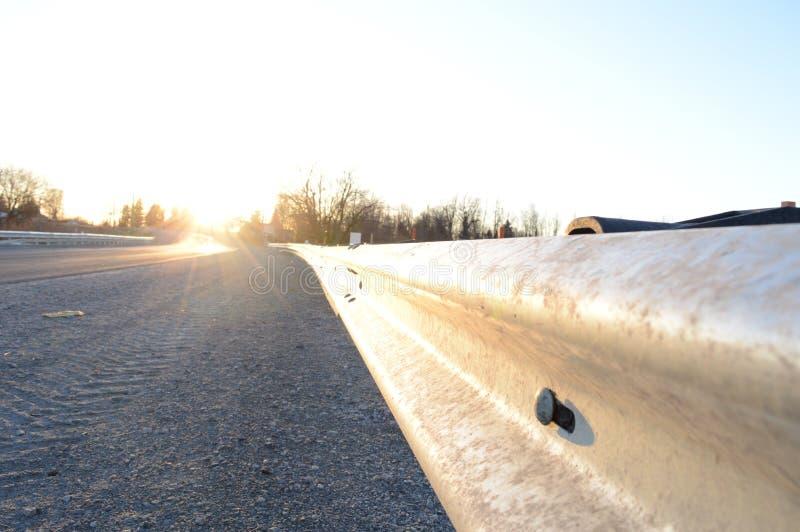 Guardia Rail de la carretera fotografía de archivo libre de regalías