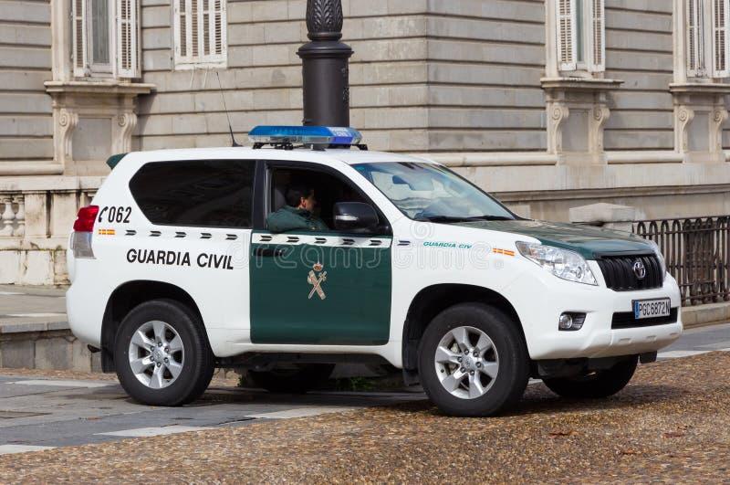 Guardia som är borgerlig i Spanien arkivfoto