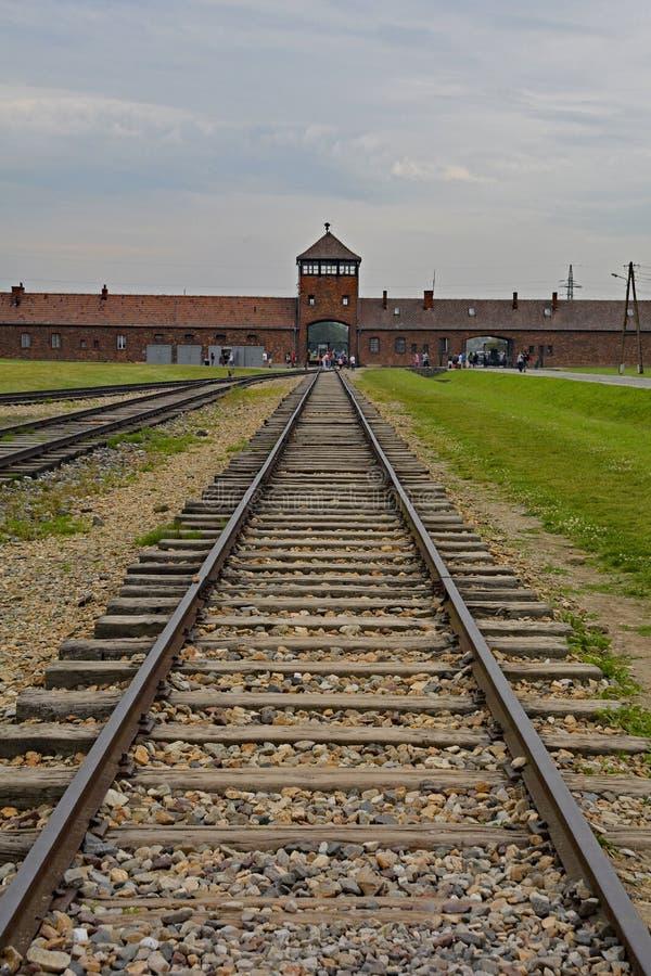 Guardia Tower Gate de Birkenau foto de archivo libre de regalías