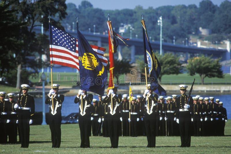 Guardiamarinas, Academia Naval de Estados Unidos, Annapolis, Maryland fotos de archivo