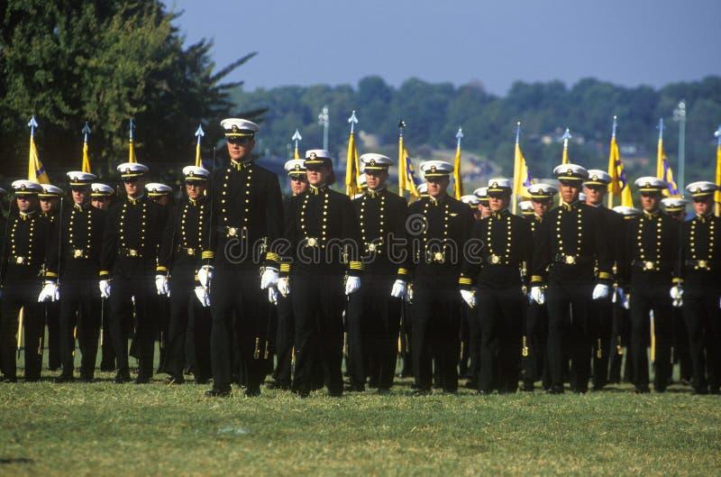 Guardiamarinas, Academia Naval de Estados Unidos, Annapolis, Maryland fotografía de archivo