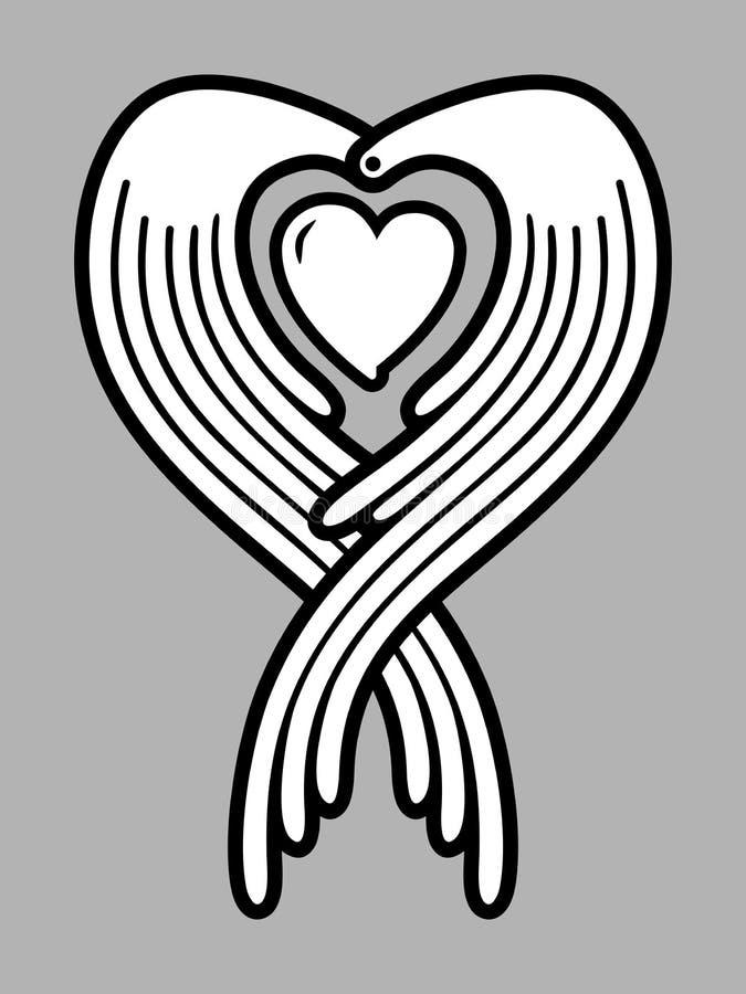 Guardian angel vector illustration