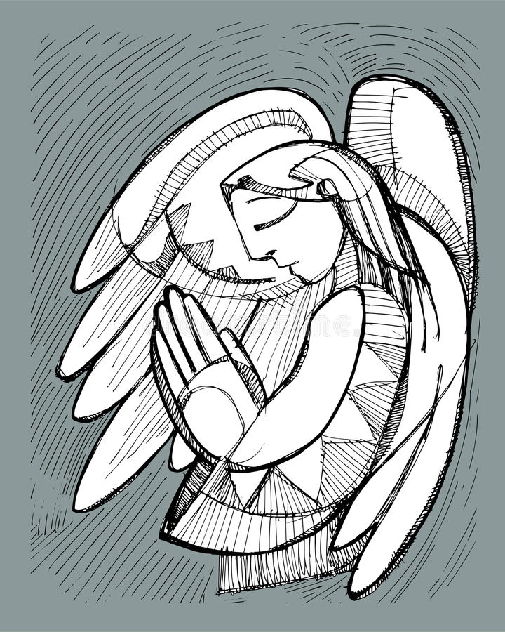 Guardian Angel vector illustration