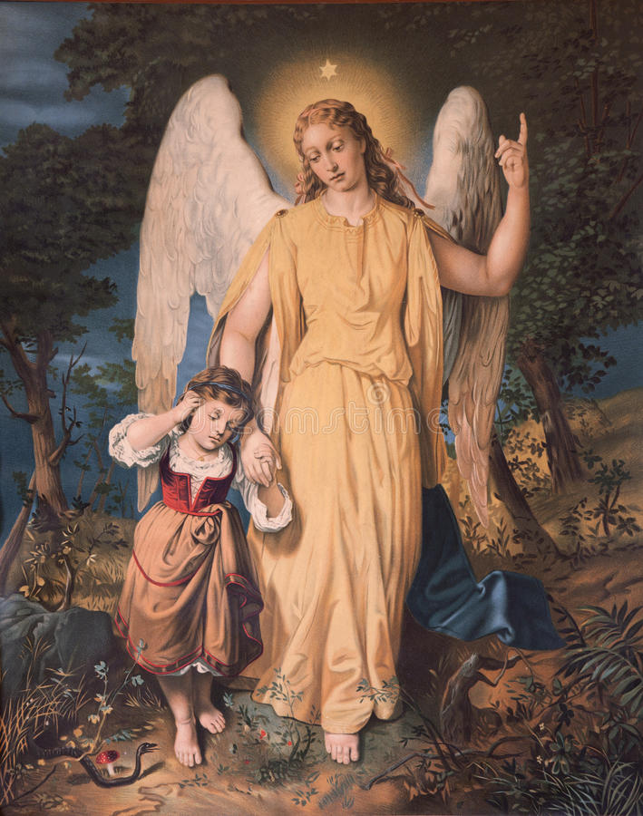 Free Guardian Angel With The Child. Stock Photos - 28166973