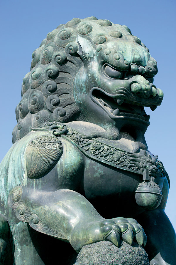 Guardian lion royalty free stock images