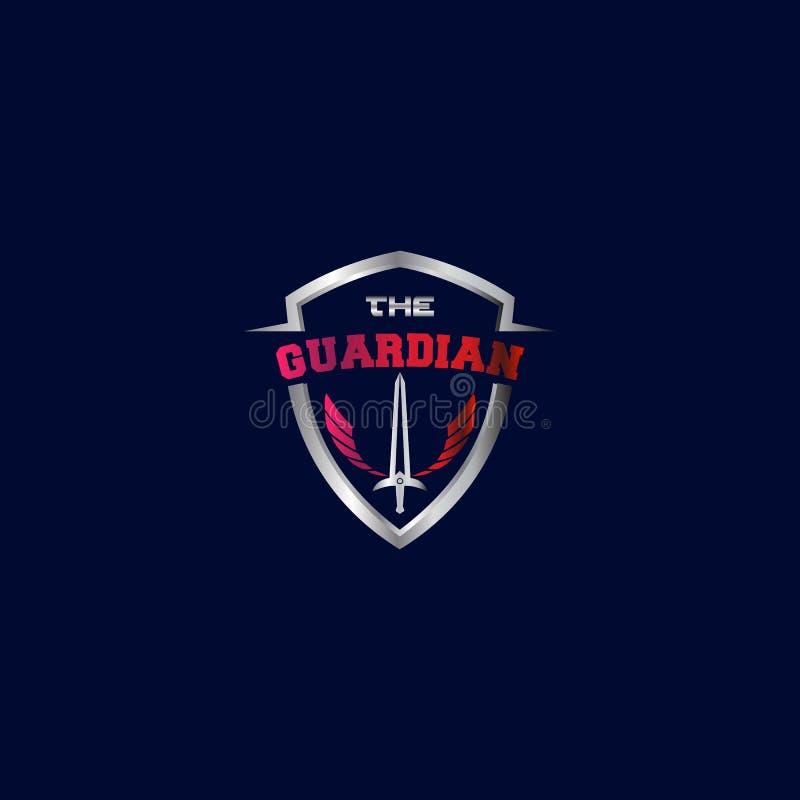 The Guardian Logo Modern Design Vetora ilustração do vetor