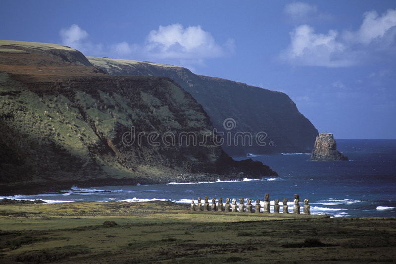 Guardiani di Rapa Nui immagini stock