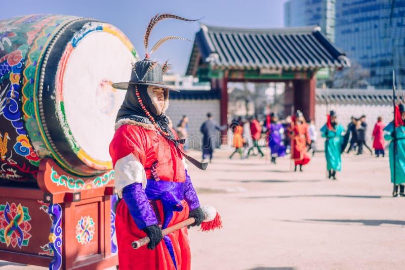 Guardiano del tamburo fotografie stock libere da diritti