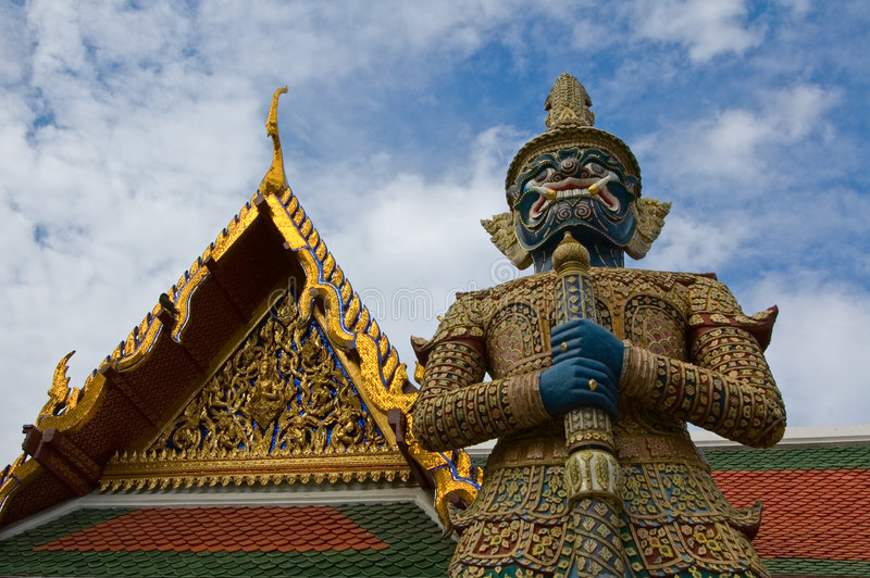 Guardiano gigante Mythical a Wat Phra Kaew fotografia stock