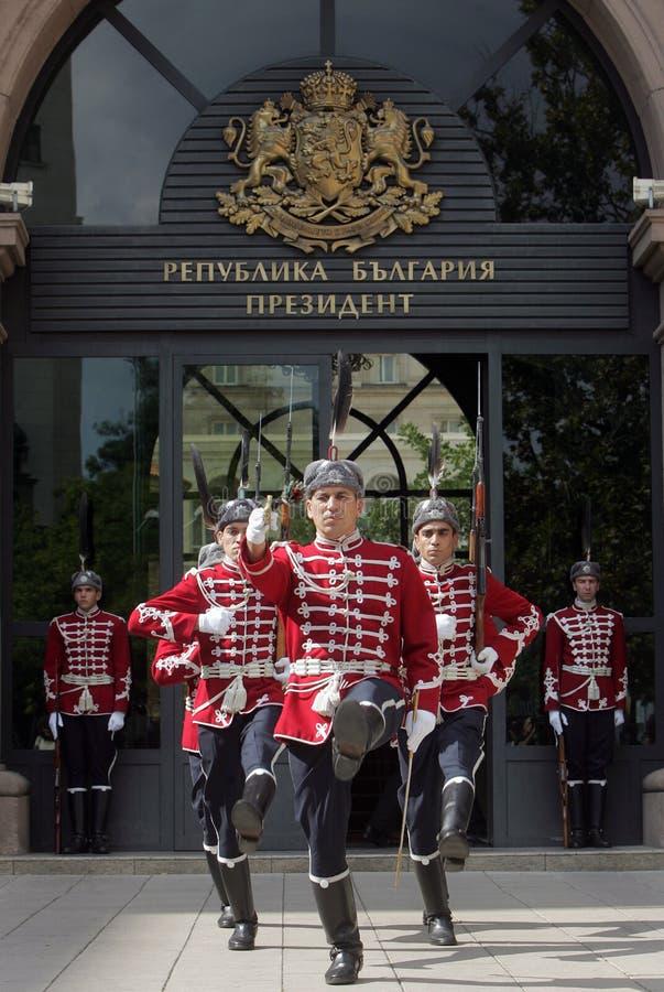 Guardias de Bulgaria del honor fotografía de archivo