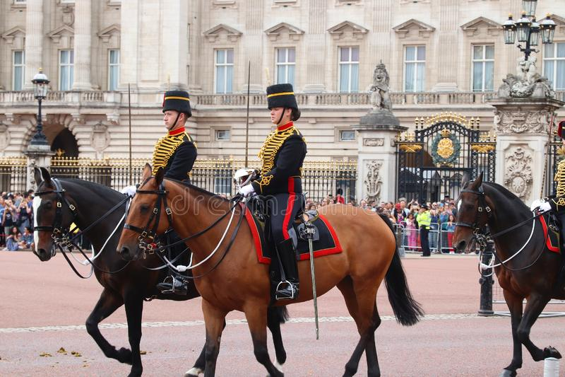 Guardias de caballo de Londres foto de archivo libre de regalías
